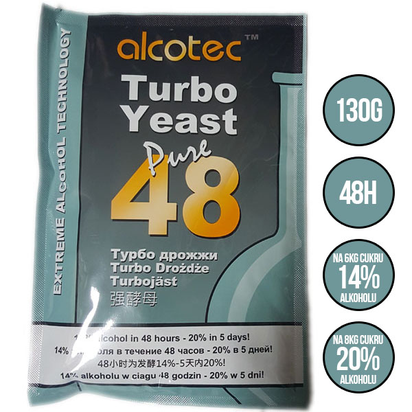 ALCOTEC 48 pure TURBO do 20% alkoholu